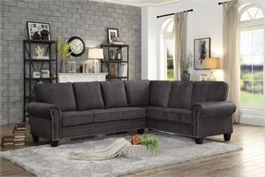 Cornelia Dark Grey Sectional,8216 homelegance,8216 sectional