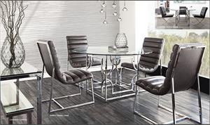 Avalon Dining Set by Diamond Sofa with Bardot Dining Chairs