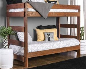 Arlette Twin/Twin Bunk Bed AM-BK100,am-bk100 bunk bed,am-bk100 furniture of america
