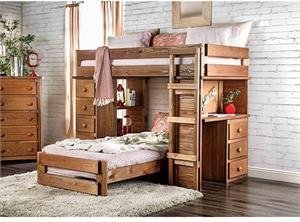 Eileen Twin/Twin Loft Bed AM-BK600,am-bk600 furniture of america