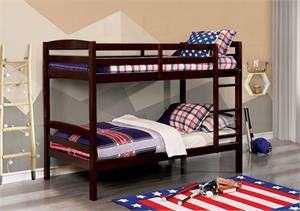Elaine Twin/Twin Bunk Bed.cm-bk634ex bunk bed