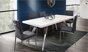Carrera Dining by Diamond Sofa,metro chair,grey metro chair,lu118 chair,dt-1607 table