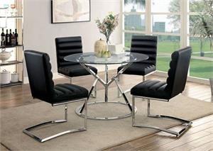 Livada Black Dining Set,cm3170bk-sc,cm3170 furniture of america