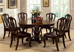 Bellagio Round Dining Set,cm3319rt dining, cm3319 furniture of america