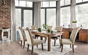 Sania Dining Set,sania I dining set, cm3324,cm3324a dining, cm3324a furniture of america