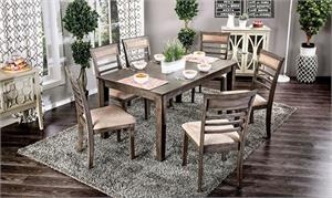 Fafnir 7 Piece Dining Set,cm3607 furniture of america,cm3607t-7pk dining