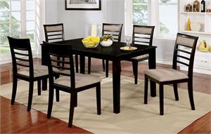 Fafnir Espresso 7 Piece Dining Set,cm3607ex furniture of america