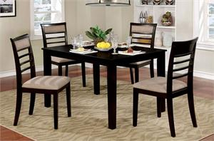 Fafnir Espresso 5 Piece Dining Set,cm3607ex furniture of america,cm3607 dining