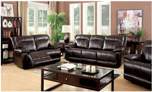 Dolton Brown Power Recliner Set,cm6128br-sf-pm,cm6128 furniture of america,cm6128 recliner