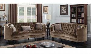 Manuela Brown Sofa set Collection CM6145,cm6145 furniture of america