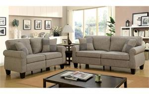Rhian Light Grey Sofa Set Collection,cm6328 sofa,cm6328lg furniture of america