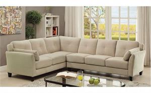 Peever II Beige Sectional CM6368BG,cm6368 furniture of america