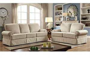 Badalona Beige Sofa Set Collection CM6376,cm6376 furniture of america