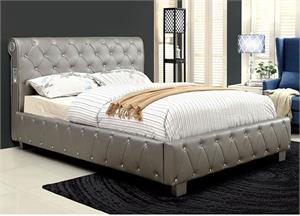 Juilliard Siver Bed,cm7056 furniture of america