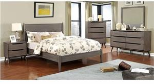 Lennart Gray Bedroom Collection Wooden Headboard,cm7386gy furniture of america