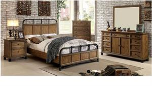 Mcville Bedroom Collection,cm7558 furniture of america,industrial bedroom