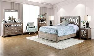 Zaragoza Bedroom Collection CM7585,cm7585 furniture of america,mirror bed