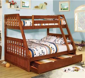 Camberra Twin/Full Bunk Bed,cm-bk605a furniture of america,bk605 bunk bed,