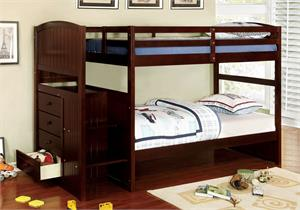 Bunk Bed Appenzell Collection Espresso,cm-bk922t-ex bunk bed