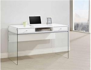 White Computer Desk,glass side desk,800829 coaster,800829