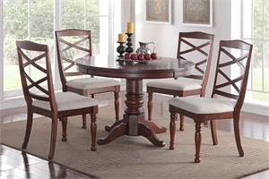 Arizona Round 5 Piece Dining Set,f2288 poundex,f1544 poundex