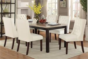 Real Marble Top Dining Poundex F2296