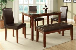 Molly 5 Piece Dining Set,f2509 poundex