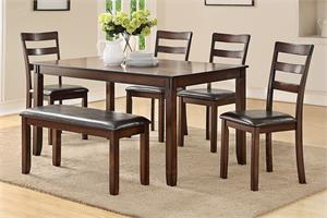 6 Piece Dining Set F2547,f2547 poundex