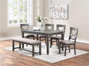 Dining Set 6 Piece F2563,f2563 poundex, f2563 dining