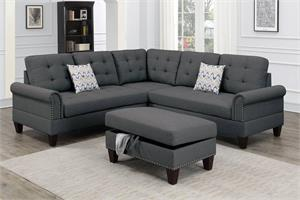 Sectional Sofa 3 Piece Poundex F6474, f6474 poundex