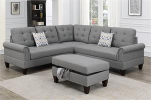 Sectional Sofa 3 Piece Poundex F6475, f6475 poundex