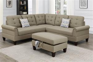Sectional Sofa 3 Piece Poundex F6476, f6476 poundex
