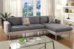Reversible Sectional Sofa Poundex F6551,f6551 poundex