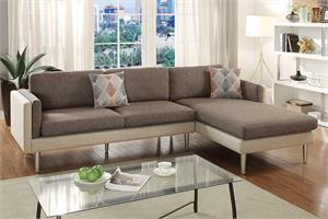 Reversible Sectional Sofa Poundex F6553,f6553 poundex