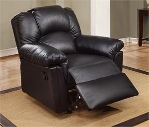 Black Recliner Chair Style F6673