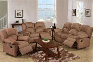 Saddle Microfiber Motion Sofa Set F6688,F6689 poundex,F6688 poundex,F6687 poundex