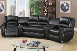 Recliner Home Theater Sectional,f6747,f6747 poundex,f6747 recliner
