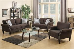 Dark Brown Sofa 3 Piece Set F6924 ,f6924 poundex
