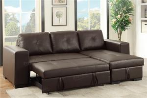 Sectional Reversible with Pull-Out Bed F6930 Poundex,poundex f6930