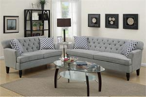 Taupe Sofa and Loveseat Set F6940,f6940 poundex