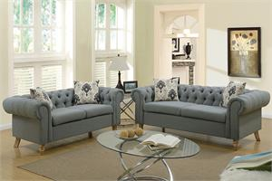 Dara 2 Piece Sofa Set Poundex F6964,f6964 poundex