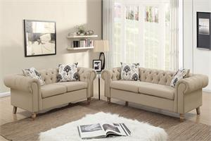 Dara 2 Piece Sofa Set Poundex F6965,f6965 poundex