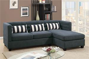 Reversible Sectional Sofa Slate Poundex F6994,f6994 poundex