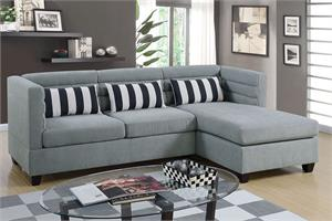 Reversible Sectional Sofa Taupe Poundex F6996,f6996 poundex
