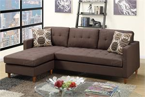 Reversible Sectional Sofa F7086 Poundex,f7086 poundex