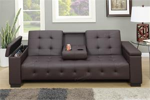 Adjustable Sofa with Console and Arm Compartment,F7202 Poundex