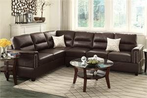 Olive 2 Piece Sectional Sofa Poundex F7859,f7859 poundex