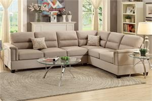 Olive 2 Piece Sectional Sofa Poundex F7860,f7860 poundex
