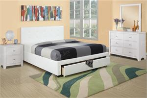 Spring Platform Bed with Storage -WHITE color,f9314 poundex,f9313 poundex,f9315 poundex
