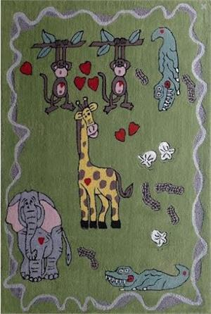 Happy Life Green Kids Rug